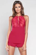 Italian Fashion Galaktyka ws.r. kr.sp. piżama karmazyn
