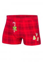Cornette Merry Christmas Candy Cane 017/42 bokserki czerwony