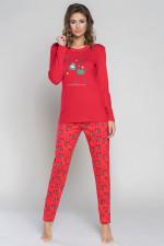 Italian Fashion Zora dł.r. dł.sp. piżama czerwony