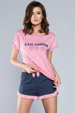 Italian Fashion Ora kr.r. kr.sp. piżama róż