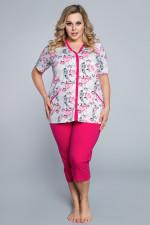 Italian Fashion Róża kr.r. sp.3/4 piżama amarant