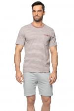 Rossli SAM-PY-153 piżama szary melange