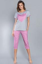 Italian Fashion Dekada kr.r. sp.3/4 piżama melanż/róż