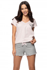 Rossli SAL-PY-1139 II piżama różowy melange