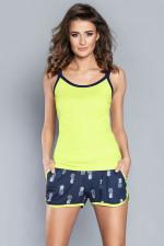 Italian Fashion Pina ws.r. kr.sp. piżama limonka-granat
