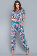 Italian Fashion Opuncja kr.r. dł.sp. piżama turkus