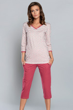 Italian Fashion Mariola r.3/4 sp.3/4 piżama malina/druk