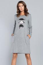Italian Fashion Dima dł.r. Koszula średni melanż