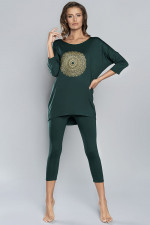 Italian Fashion Mandala r.3/4 sp.3/4 piżama zielony