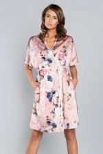 Italian Fashion Sardynia kr.r. szlafrok pudrowy róż