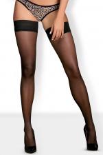 Obsessive Cheetia stockings Klasyczne czarny
