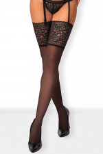 Obsessive Ailay stockings Klasyczne czarny