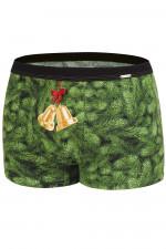 Cornette Merry Christmas Bells bokserki zielony