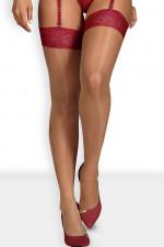 Obsessive Rosalyne Stocking Klasyczne czerwony