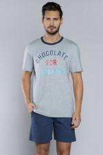 Italian Fashion Frodo kr.r.kr.sp. piżama melanż/granat