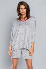 Italian Fashion Oma r.3/4 kr.sp. piżama szary