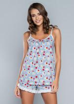 Italian Fashion Miła ws.r.kr.sp. piżama druk/szary