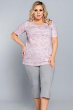 Italian Fashion Rosa kr.r. sp.3/4 piżama róż