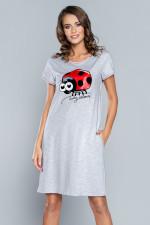 Italian Fashion Miła kr.r. Koszula jasny melanż