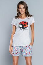 Italian Fashion Miła kr.r.kr.sp piżama jasny melanż