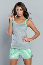 Italian Fashion Kasja ws.r.kr.sp. piżama melanż/pistacja