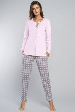 Italian Fashion Gizela dł.r.dł.sp. piżama róż/druk