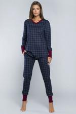 Italian Fashion Marlena dł.r.dł.sp. piżama granat