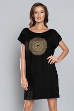 Italian Fashion Mandala kr.r. Koszula czarny