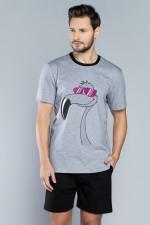 Italian Fashion Kajl kr.r. kr.sp. piżama melanż-czarny