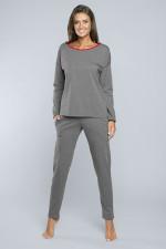 Italian Fashion Akcent dł.r. dł.sp. piżama średni melanż