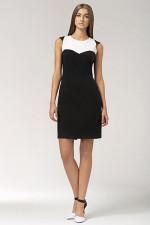 Nife S34 sukienka czarno-biały