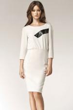 Nife S38 sukienka ecru