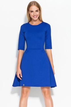 Makadamia M316 Sukienka chabrowy