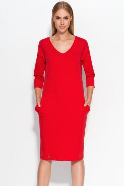 Makadamia M318 Sukienka czerwony