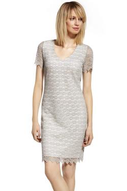 Ennywear 230116 Sukienka szary-ecru