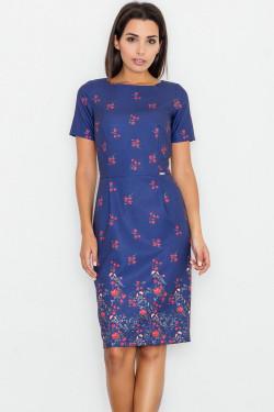 Figl M536 Sukienka wzór 61