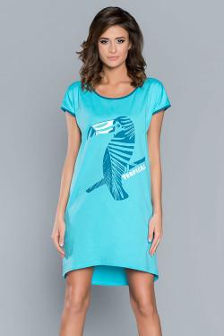 Italian Fashion Tropicana kr.r. Koszula turkus
