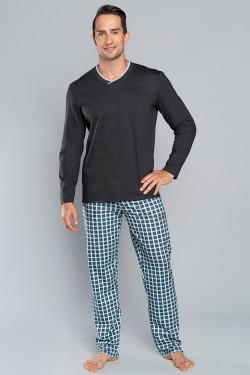 Italian Fashion Baron dł.r. dł.sp. Piżama c.melanż/niebieski
