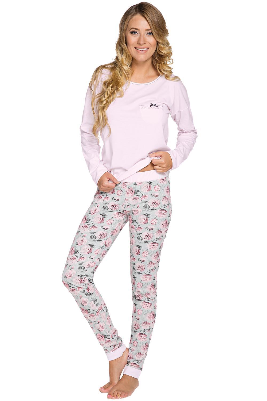 94ba286a640680 Italian Fashion Jowita dł.r. dł.sp. Piżama różowy. Wczytywanie powiększenia