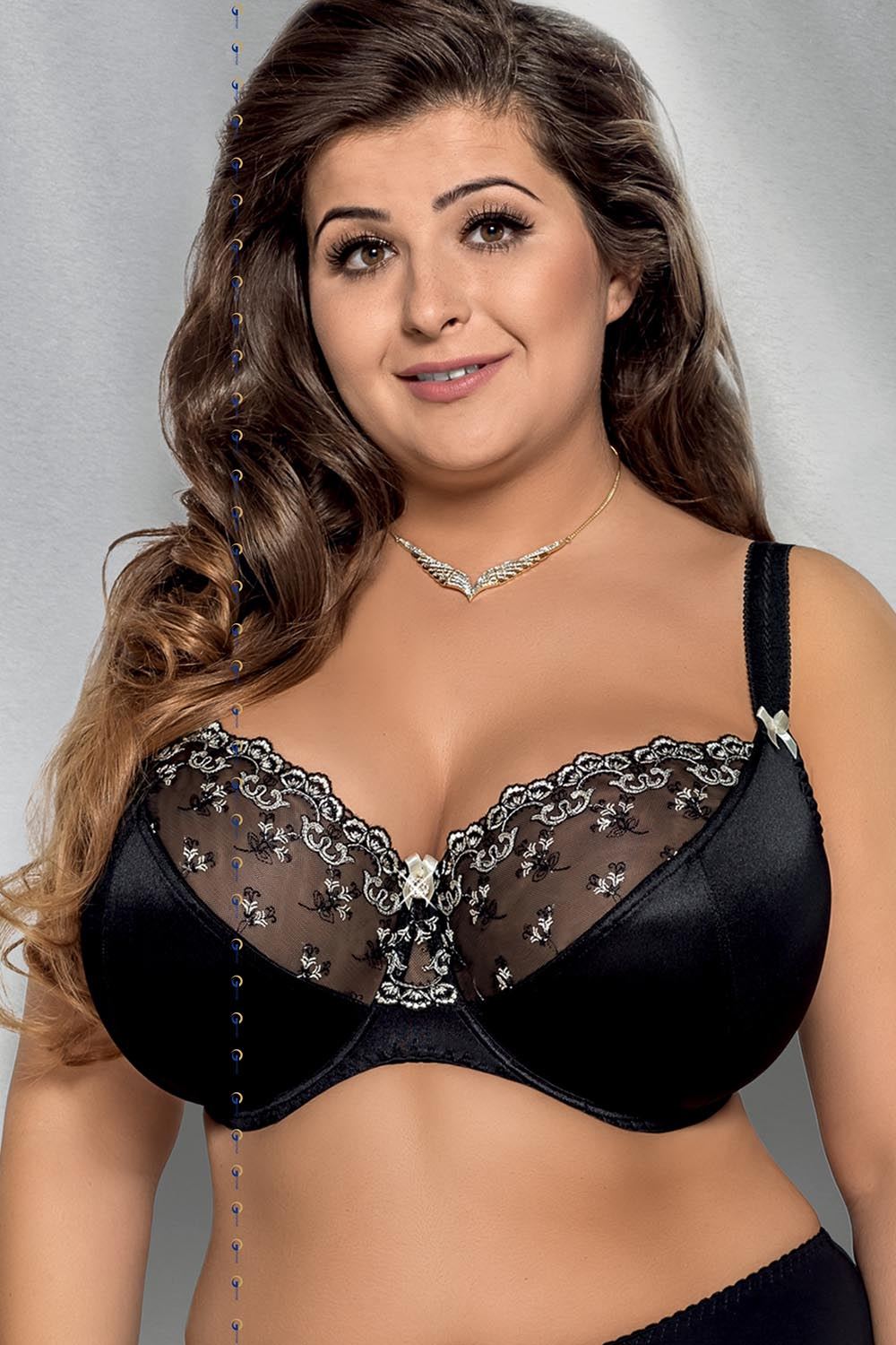 9107f4eba65 Gorsenia K213 Marlene underwired non padded full cup embroidered plus size  bra