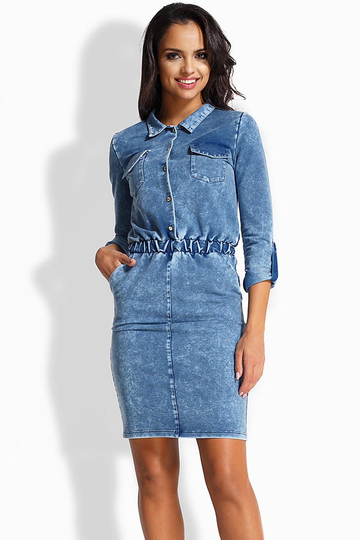 5987db5c2bba32 Lemoniade L232 Sukienka jeans. Wczytywanie powiększenia