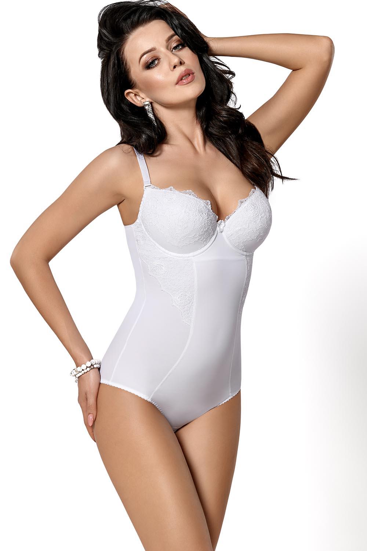 Gorsenia Bodies Elegant Smooth Bodysuit with Delicate Lace Underwear Livia 184