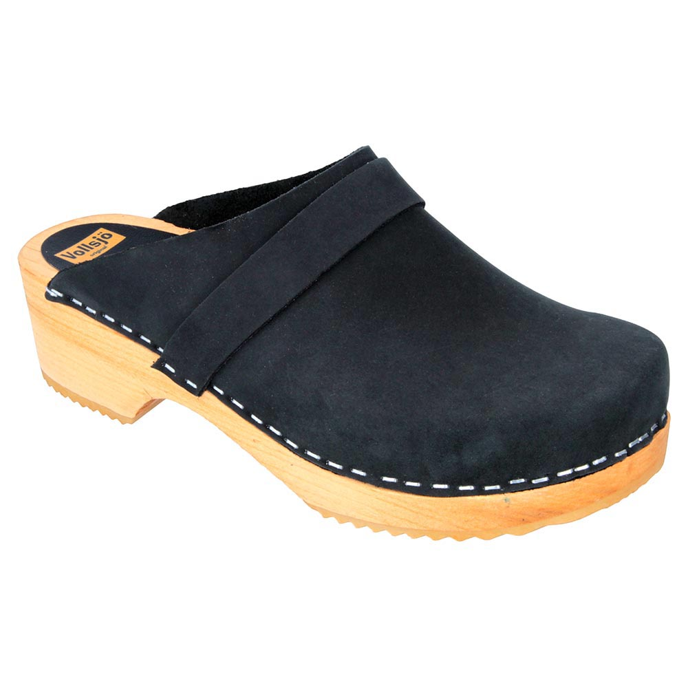 Vollsjo wooden women's genuine leather wooden Vollsjo clogs Made in EU a41a39
