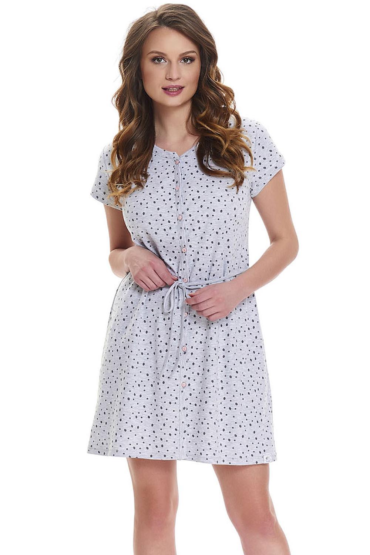 a7208d22f50762 Dn-nightwear TCB.9448 Koszula grey melange. Wczytywanie powiększenia