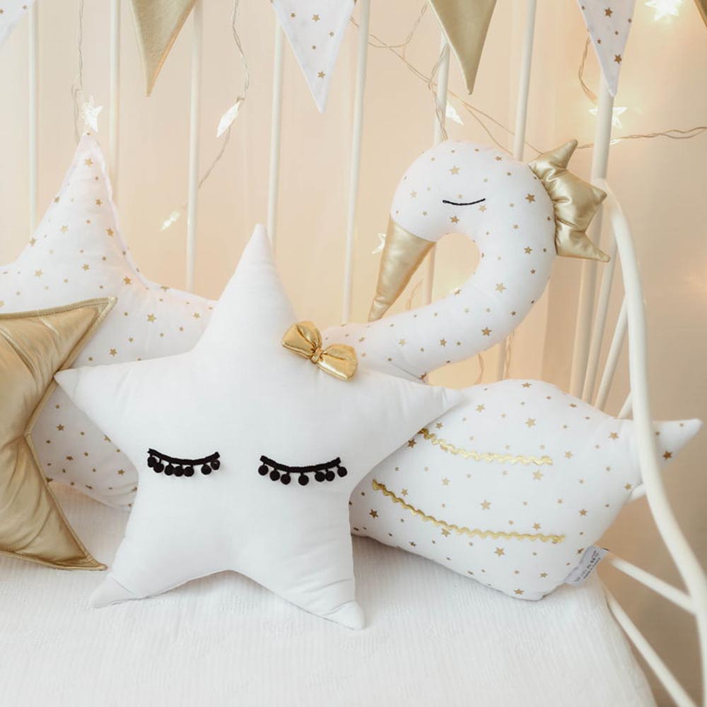 Details zu Cozydots Star Kinder Kissen Dekoration Kinderzimmer Sterne  zertifiziert
