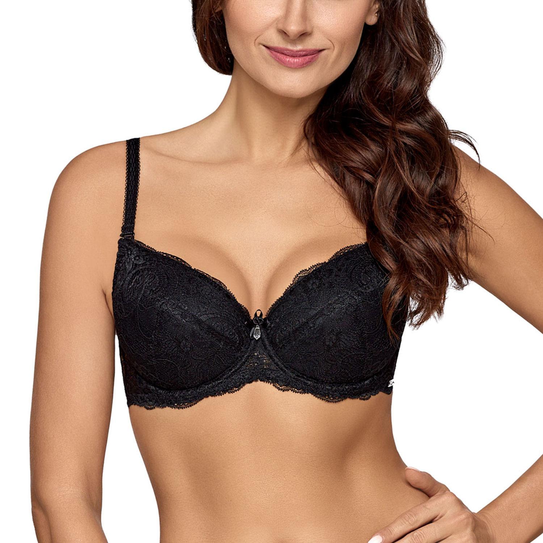 c46858b595 Ava underwired lace padded push-up bra 1638 Vicky