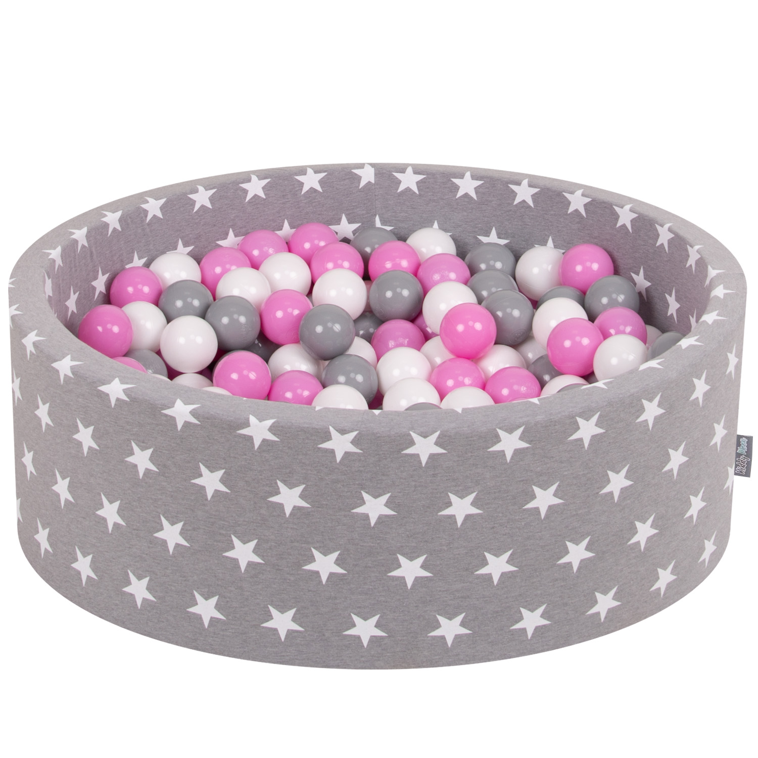 KiddyMoon New Soft Baby Ball Pit Foam Pool 90x30 with 200//300 Balls Crown