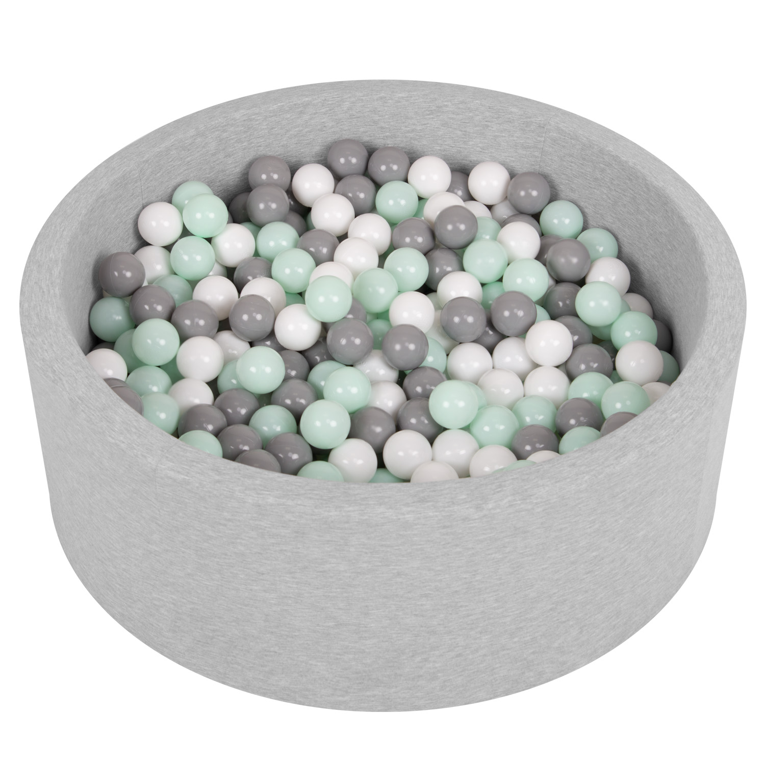 Selonis-Soft-Ball-Pit-Pool-Round-90x30cm-for-Baby-Toddler-200-Balls-Foam miniatuur 14