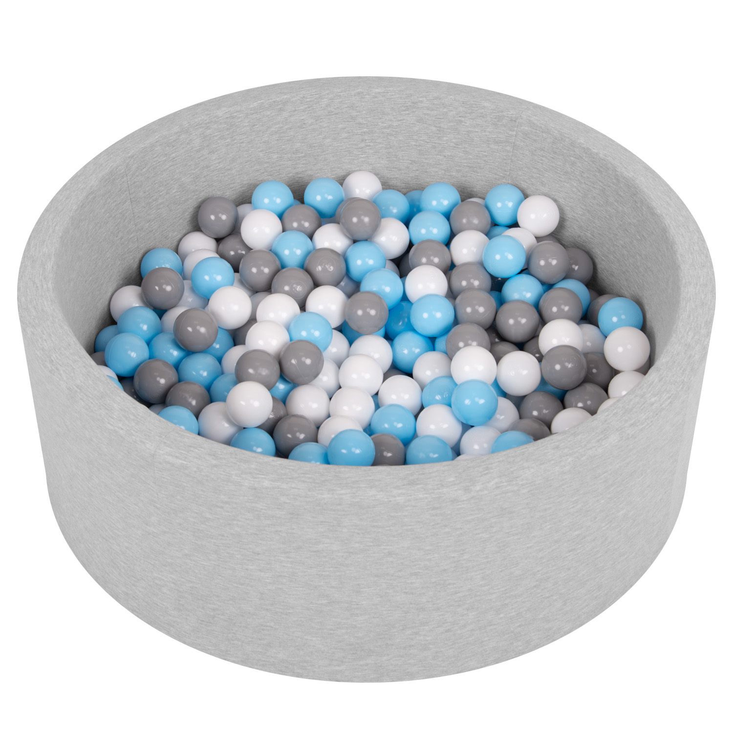 Selonis-Soft-Ball-Pit-Pool-Round-90x30cm-for-Baby-Toddler-200-Balls-Foam miniatuur 12