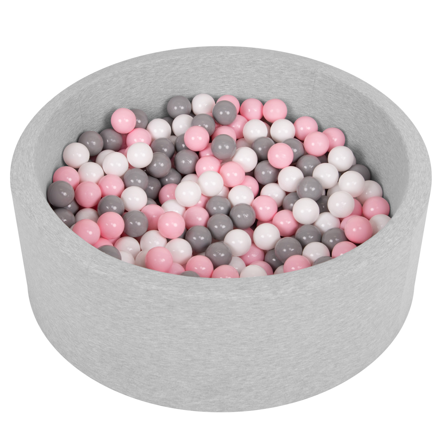 Selonis-Soft-Ball-Pit-Pool-Round-90x30cm-for-Baby-Toddler-200-Balls-Foam miniatuur 16
